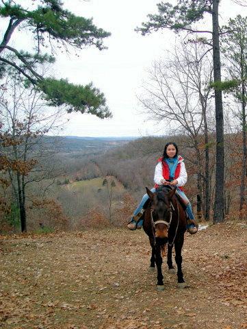 Horseback riding in Eureka Springs , AK