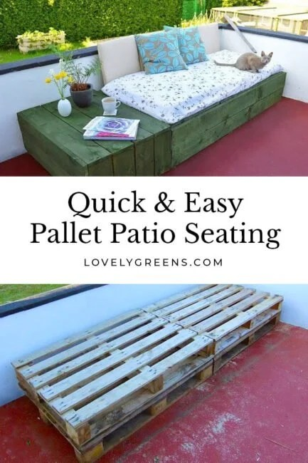 patio day bed with wood pallets