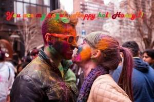 cute-couple-kissing-on-holi-2015