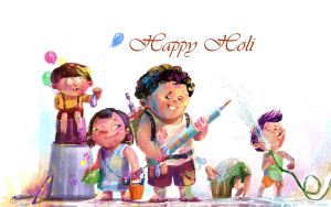 holi 2015 animated cute photo