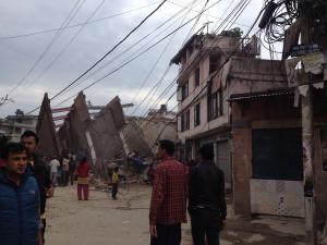 earthquake in Nepal photo