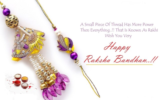 Happy Raksha Bandhan Thread Dhaga HD Wallpaper Quotes