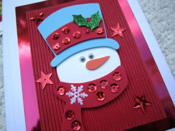 Easy And Simple Christmas Day Cards Designs For Kids