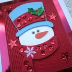 Easy Handmade Christmas Card Designs for Kids Simple X-mas Greeting Card Latest 2015