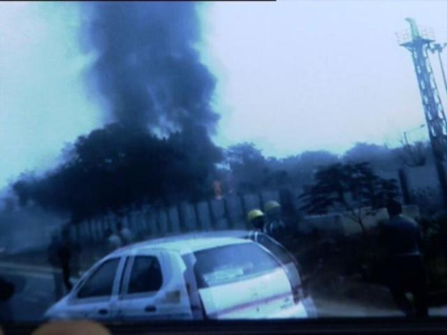 plane crash near IGI Airport Delhi