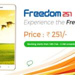 How to Book Freedom 251 Smartphone Online Freedom 251 Smartphone full details
