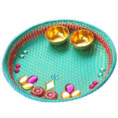 Beautiful easy thali decoration step by step with images for Aarti thali decoration with pulses