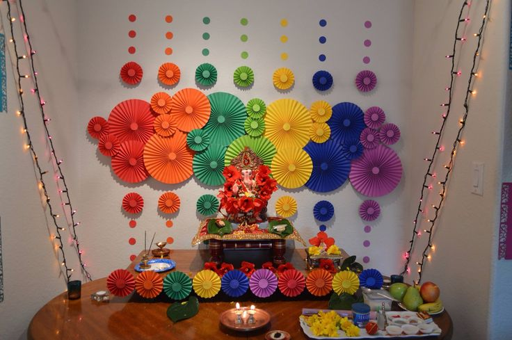 Best ganpati decoration ideas for small home ecofriendly for Home decoration images