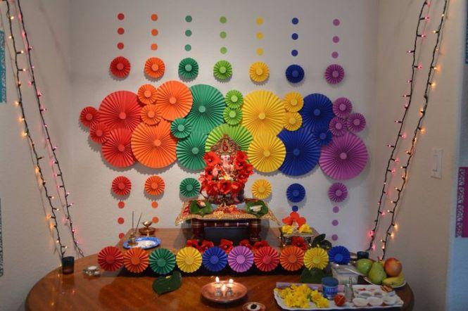 Ganpati Decoration Ideas For Home Creative Ganpati Mandal Decoration Images