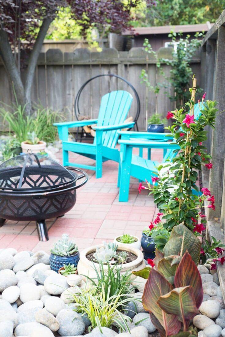 easy diy backyard patio with brick