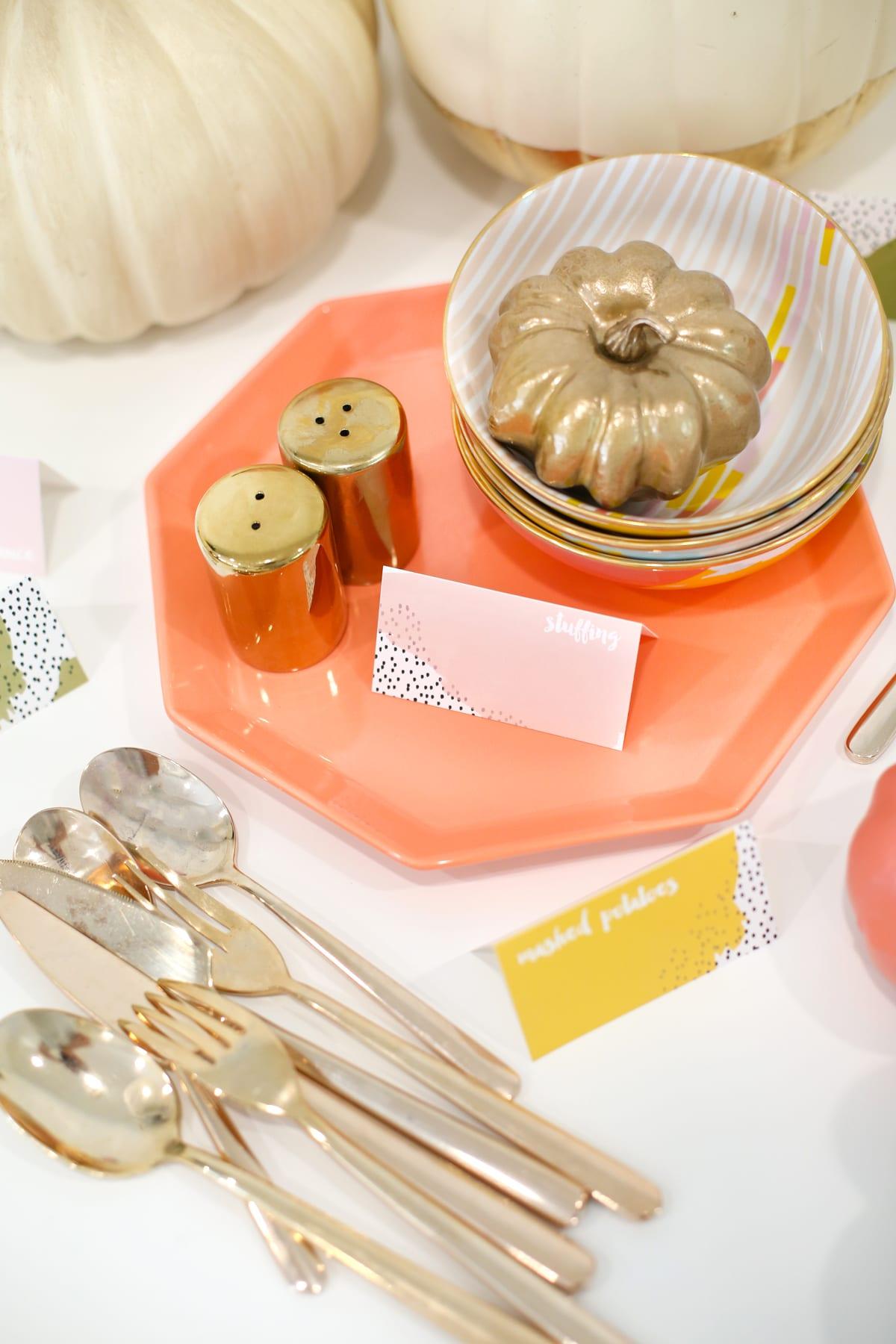 Diy Printable Thanksgiving Food Label Cards