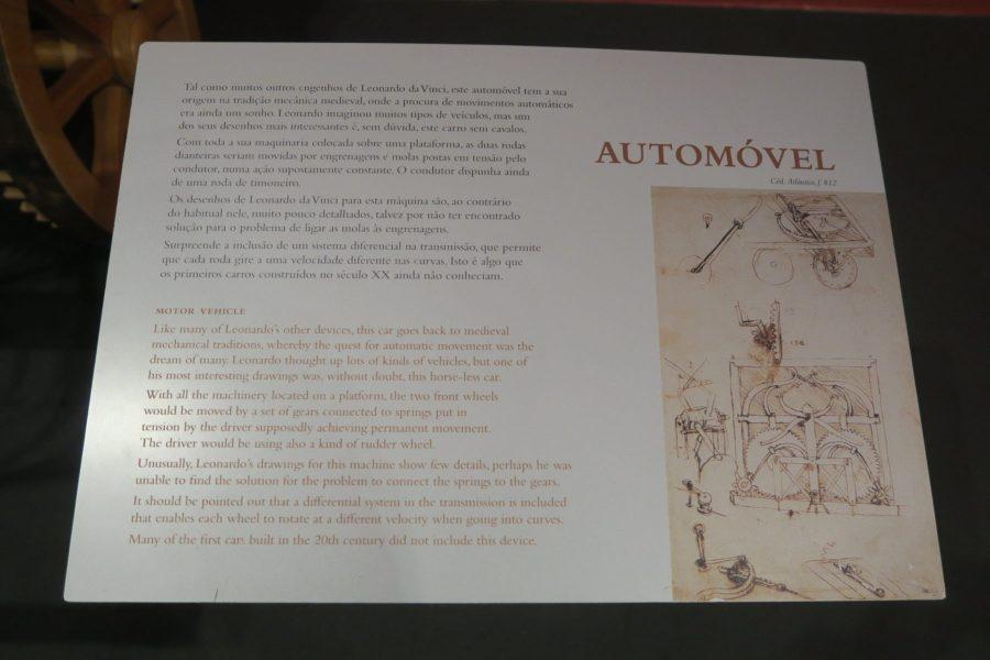 automóvel invenção leonardo da vinci
