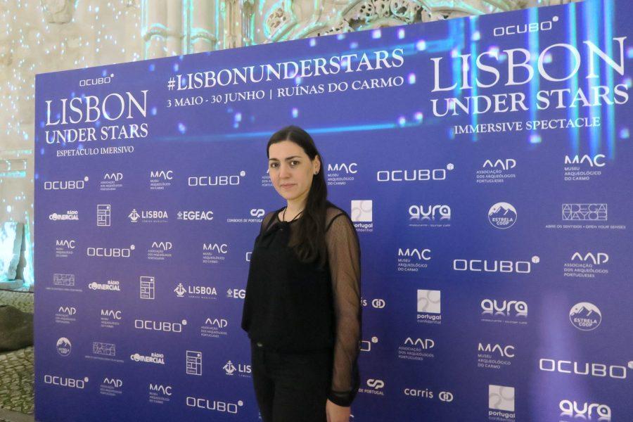 Lisbon Under Stars Ruínas do convento do carmo lisboa portugal