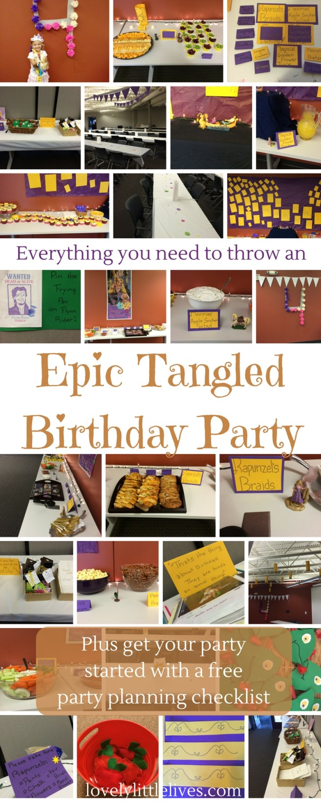 Everything you need to throw an Epic Tangled Birthday Party
