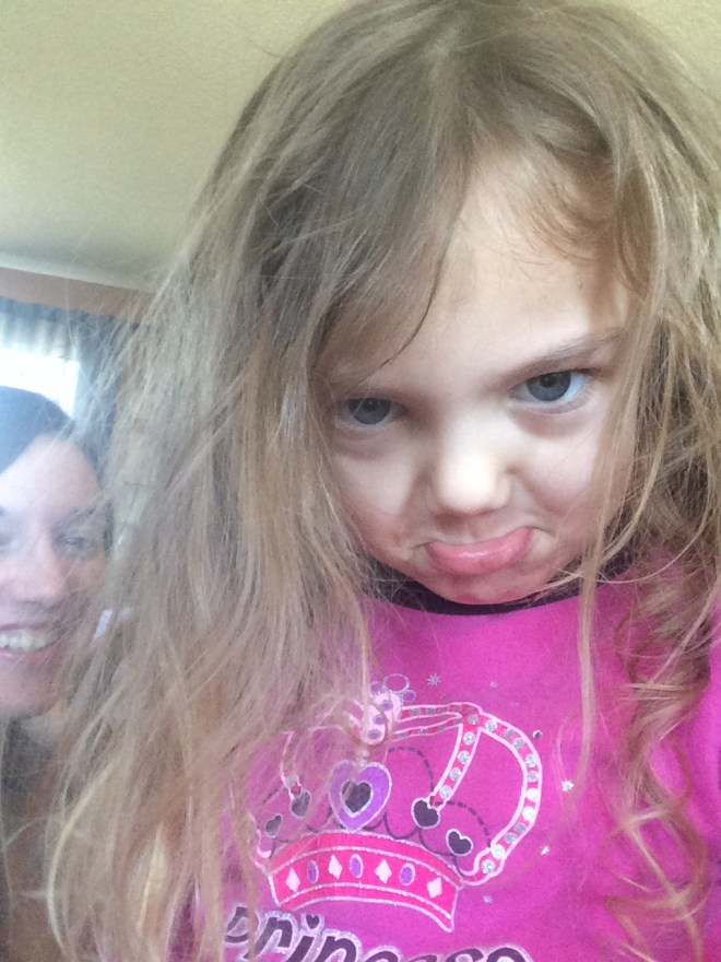 Indoor activity selfies
