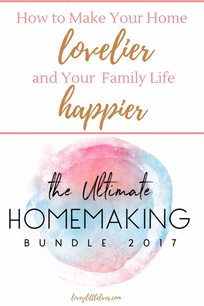 How to make your home lovelier and family life happier with the ultimate homemaking bundle! Special flash sale only available through October 24!