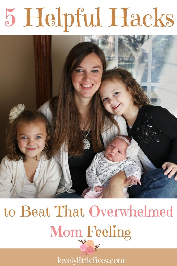 5 Helpful Hacks to Beat That Overwhelmed Mom Feeling #kassondradesignphotography #momhacks #beattheoverwhelm #beabettermom