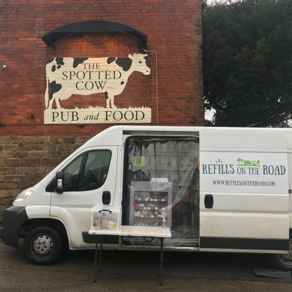 eco businesses in Derbyshire - Refills on the Road van