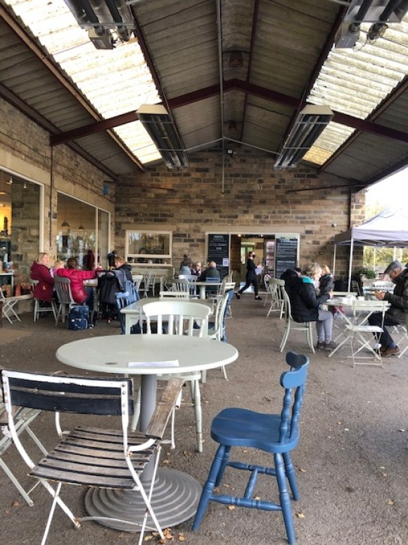 outdoor seating in Derbyshire - Hassop Station Cafe
