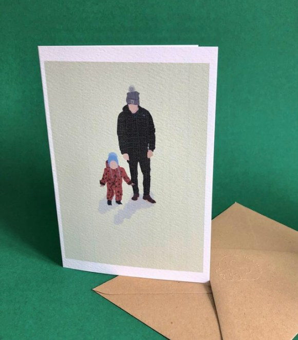 Father's Day ideas from Derbyshire small businesses personalised digital portrait from Sit and Stetch