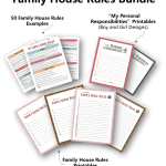 Family House Rules For Kids Teens 50 Sample Rules Template