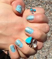 turquoise nails lovelymuggle