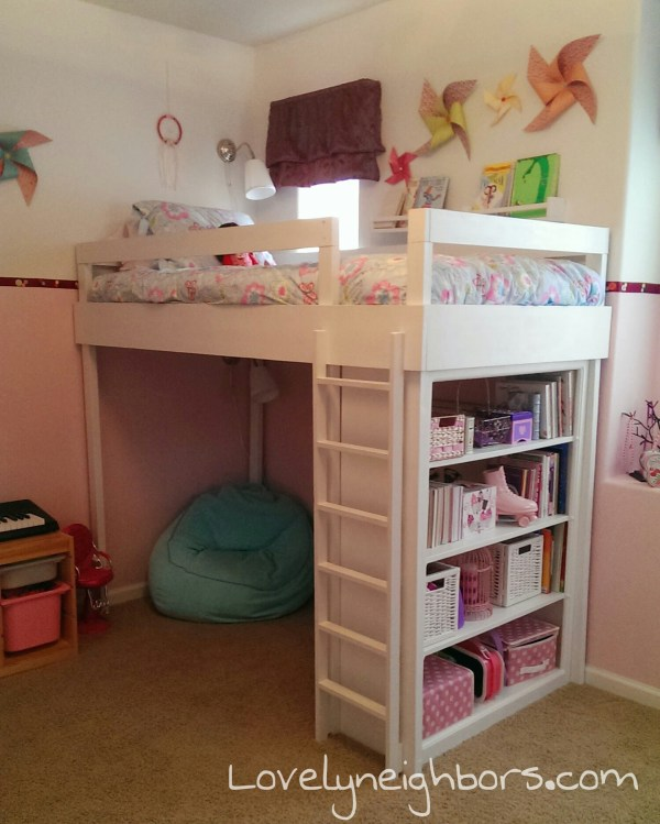 Little Girls Room Idea Loft Bed