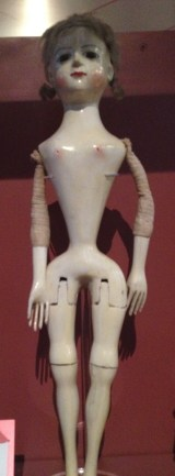 Wooden doll made in 1720.