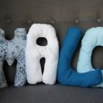 Petits coussins lettres pour Malo