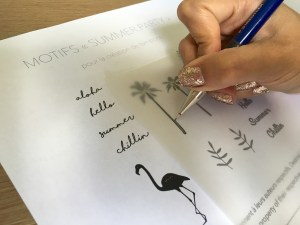 Création tampon : Copiez le motif de votre choix sur le papier calque