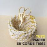Tuto – Panier en corde tissé