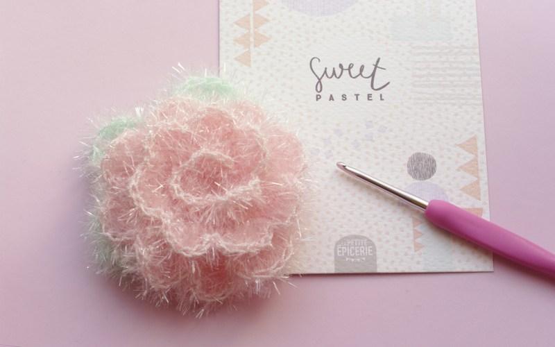 Fleur crochet éponge