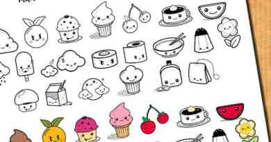 {Freebie} Cute food stickers for your planner