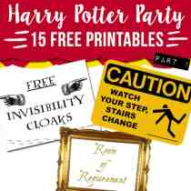 Download 15 free Harry Potter party printables.
