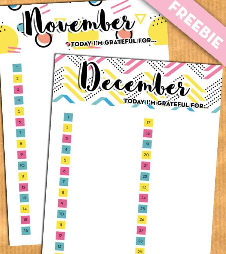 """Gratitude planner inserts: """"Today I'm grateful for"""" - Free printable"""