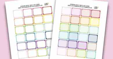 "Free Printable Half Box Planner Stickers in rainbow colors - each sticker measures 1.25""x1.5"". Also get the matching free printables available. Compatible with most planner types: Happy Planner, Erin Condren..."