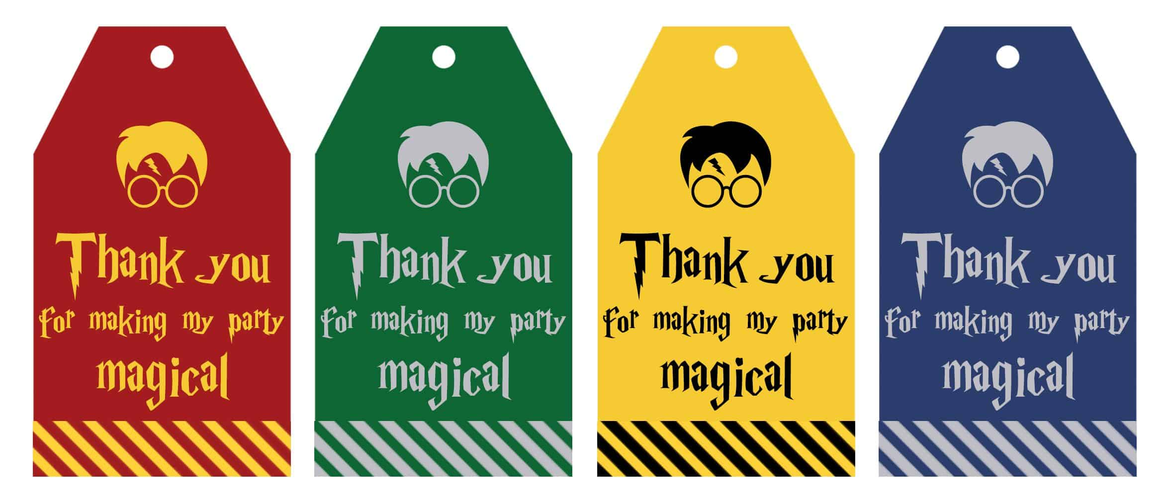 Free Printable Harry Potter Party Favor T Tags