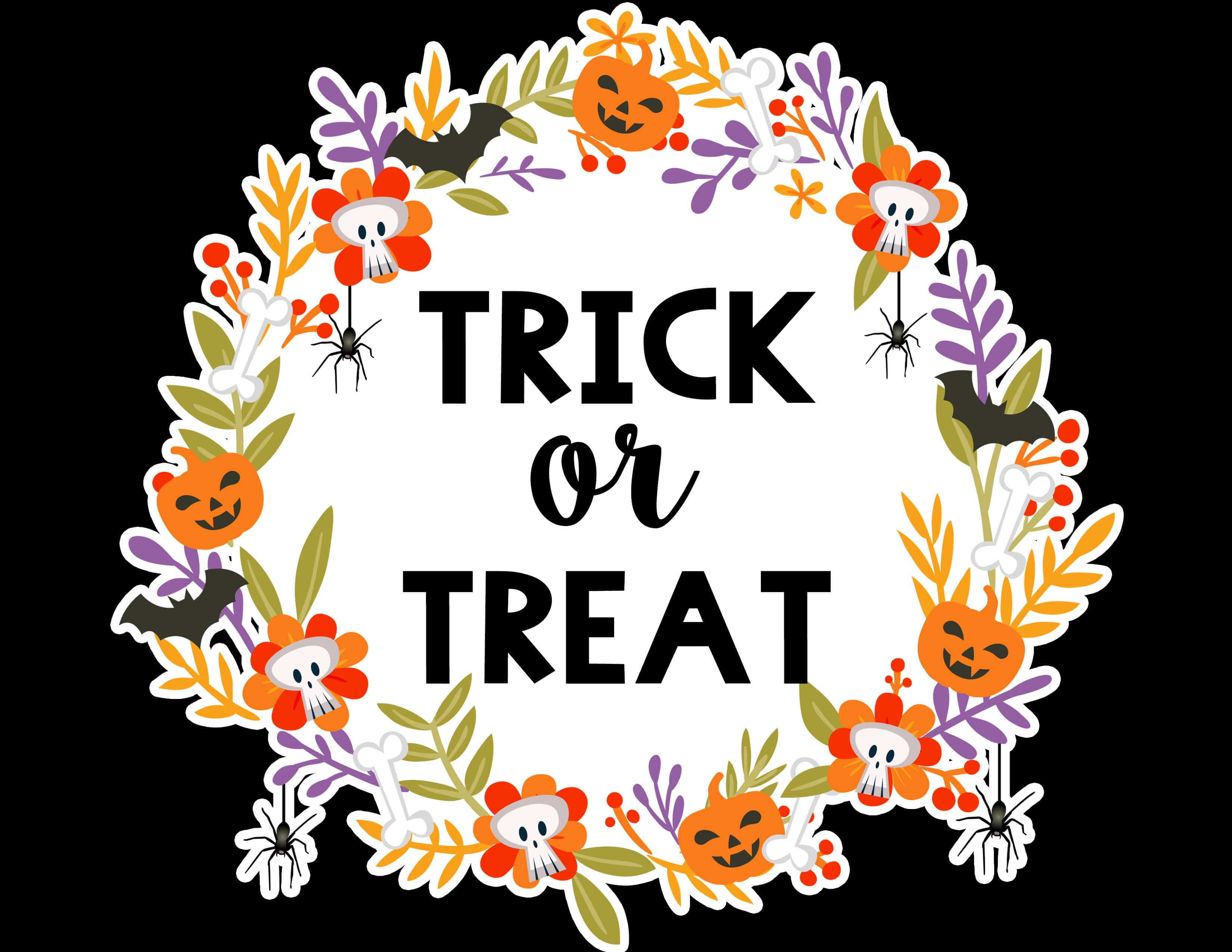 Free Printable Halloween Trick Or Treat Sign