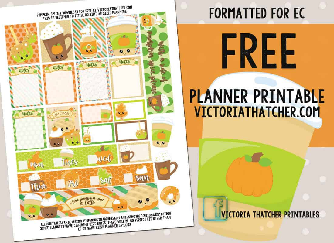 Victoria Thatcher Free Printable Planner Stickers Fall