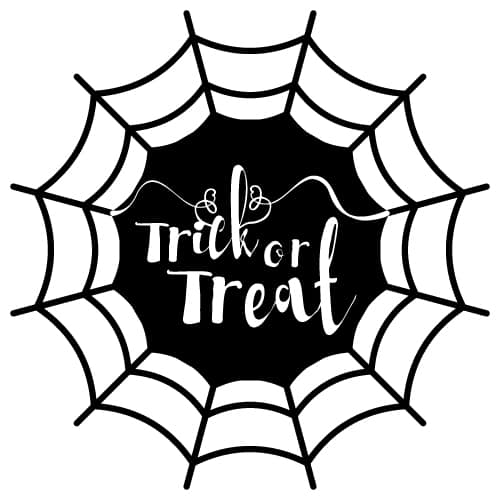 Download free halloween SVG cut files - trick or treat - Lovely Planner