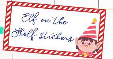 Free Printable Elf on the shelf planner stickers to keep track of your Elf on the shelf ideas every night. Or simply use as Christmas planner stickers. #freeprintable #christmas #elfontheshelf #planner #Plannerstickers #lovelyplanner
