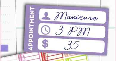 FREE Printable Appointment Planner Stickers to keep track of your appointments and of the cost of each service #planner #freeprintable #stickers #lovelyplanner