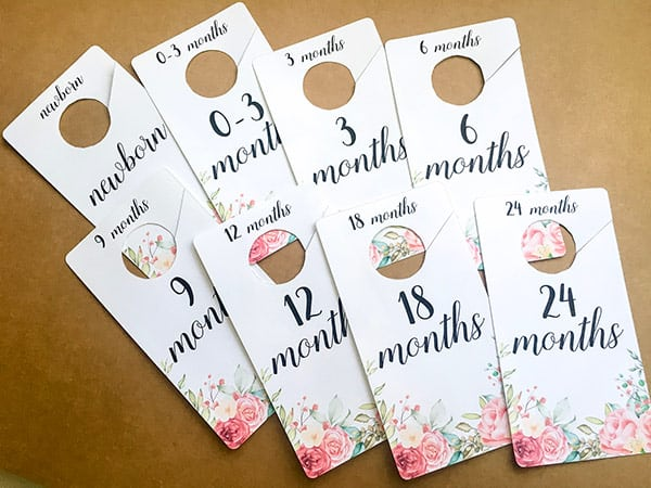 Free Printable Baby Girl Closet Dividers - DIY Nursery decor