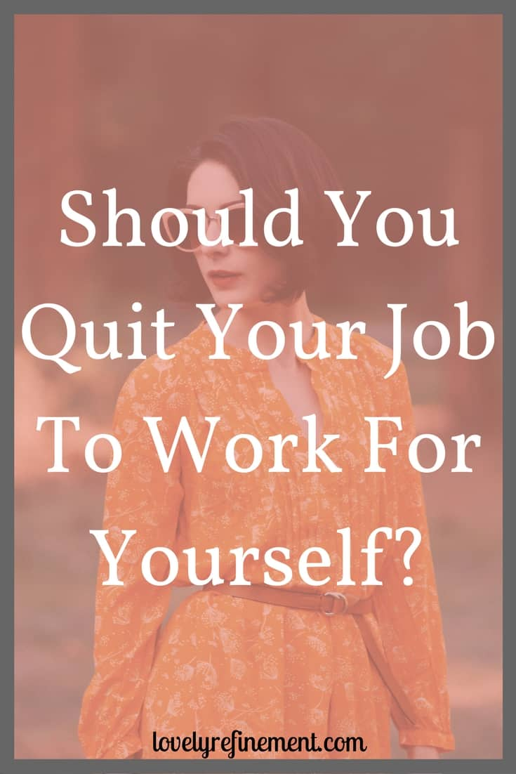 Are you wondering what it's like to quit your job and jump into the unknown of working for yourself? Here is what happens once you give your notice. #quitjob #workfromhome #taketheleap