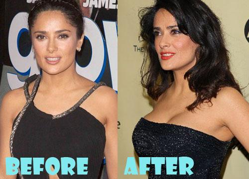 Salma Hayek Plastic Surgery Boob Job