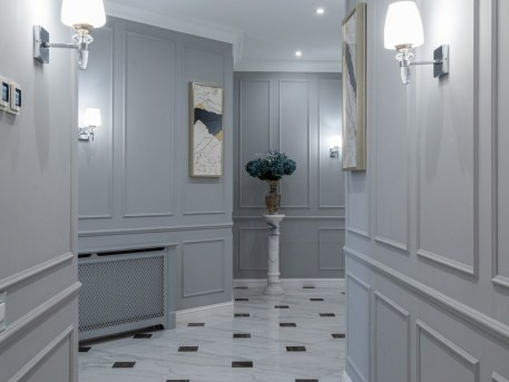 Hall Way with PS Foam Wainscoting Design Resized