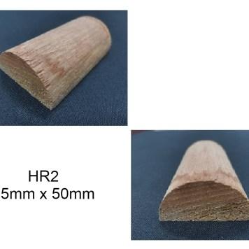 HR2 HALF CIRCLE WOOD MOULDING WAINSCOTING