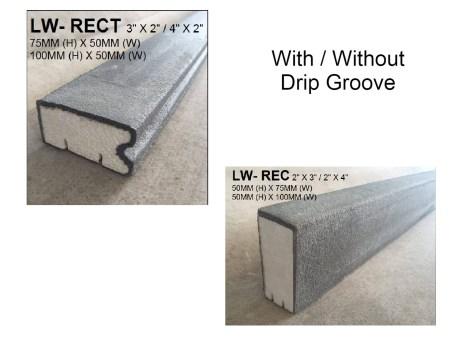 Lightweight Concrete Standard 3x2 and 4x2
