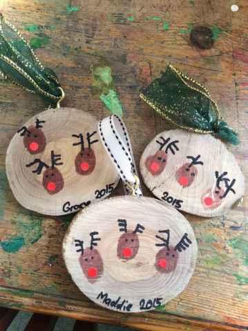 0023 Rustic DIY Wooden Christmas Ornaments Ideas