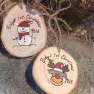 0047 Rustic DIY Wooden Christmas Ornaments Ideas